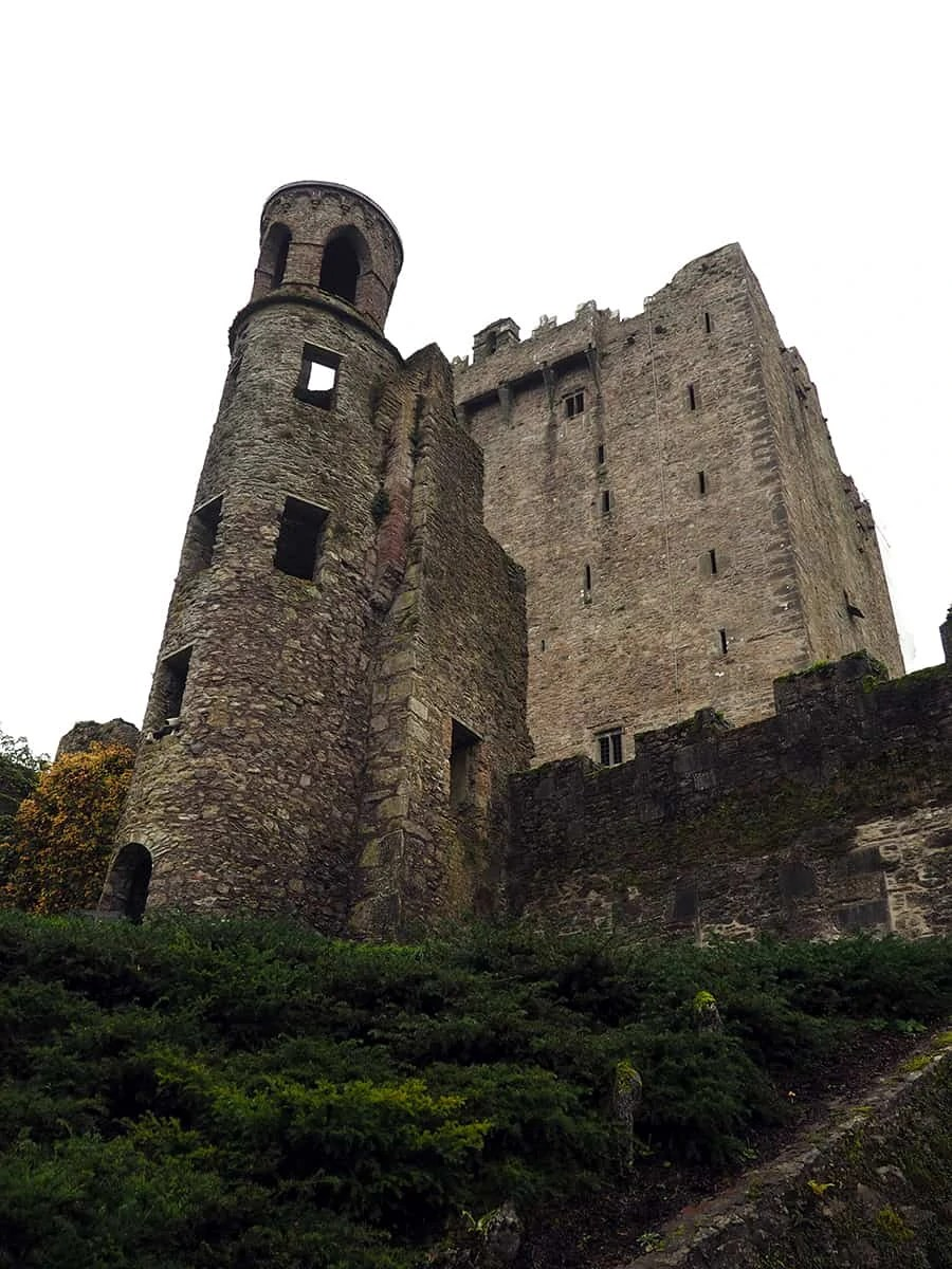 the scene from below for Blarney Castle in Ireland   via The Spirited Violet