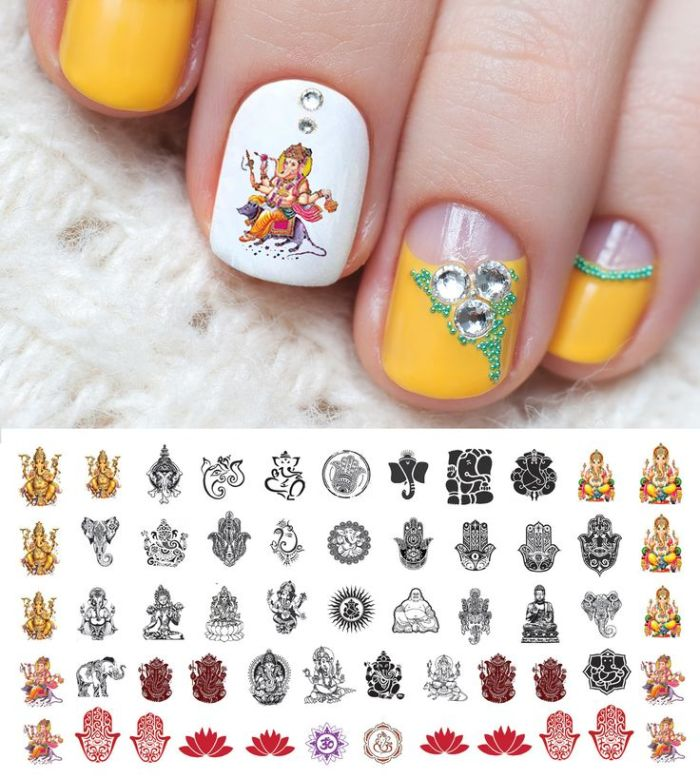nail-art-designs-ganesh-chaturthi