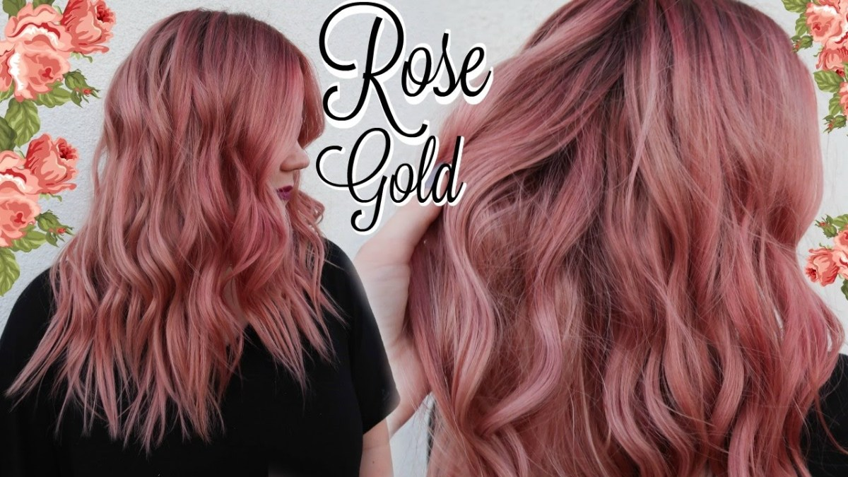 Styling Ideas For Rose Gold Hair Color