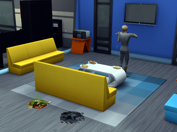 Sims 4 Discover University common room at the dorms
