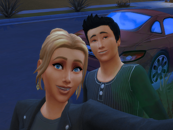 Sims 4 selfie with another sim