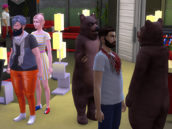 Sims 4 bear night at the bowling alley