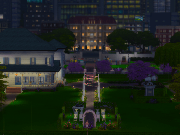 Myshuno Meadows park in The Sims 4