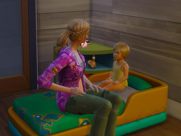 sims 4 reading toddler to sleep