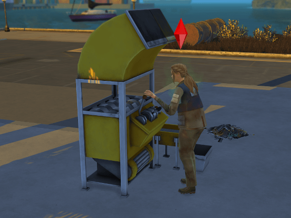 Sim using the recycler