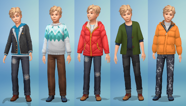 Sims 4 boy cold weather fashion