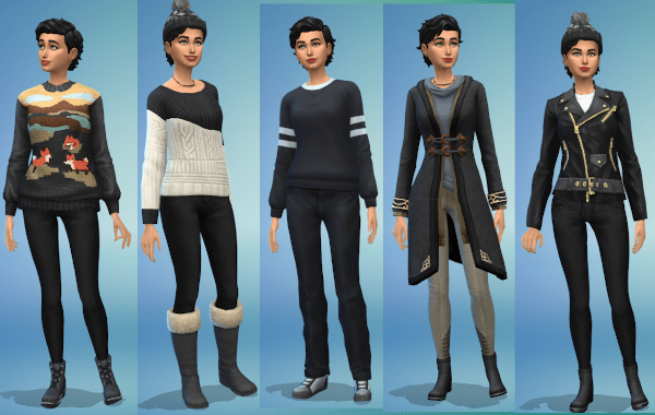Sims 4 cold weather outfits for female sim