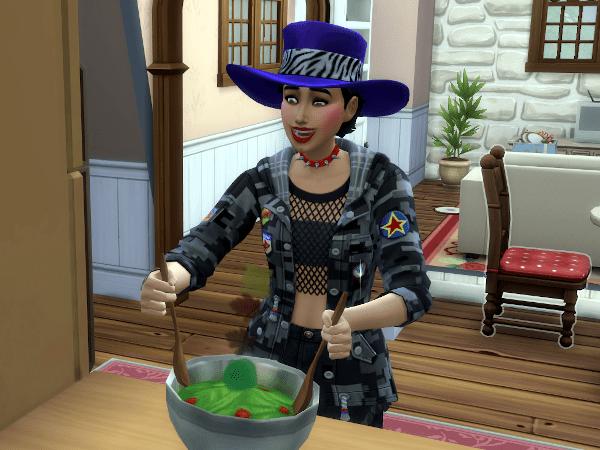 Sims 4 fixing a salad
