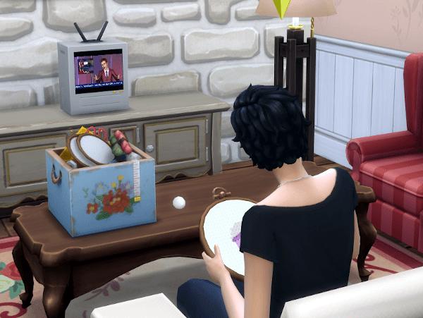 Sims 4 Cottage Living cross stitch