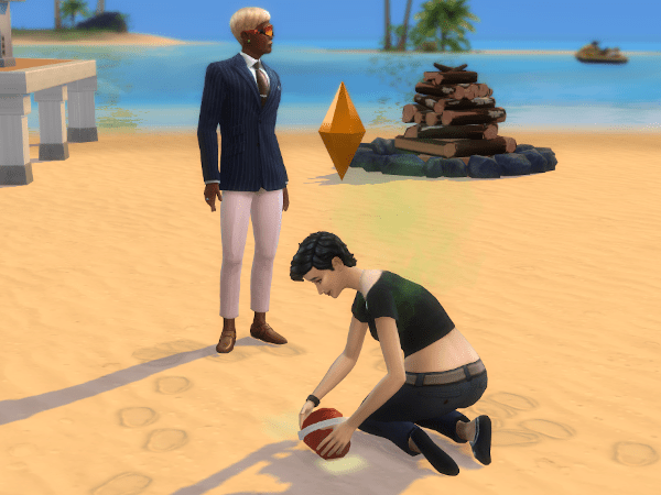 Sims 4 building sand castle in Sulani