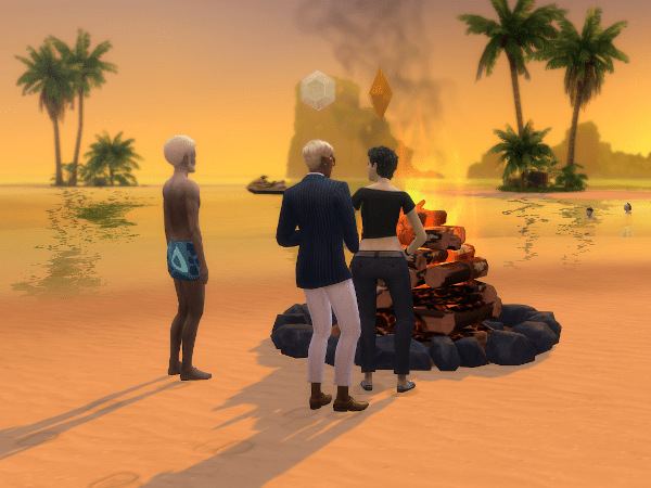 Sims 4 Sulani beach bonfire