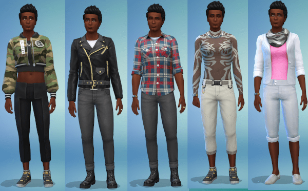 Sims 4 gender fluid everyday outfits