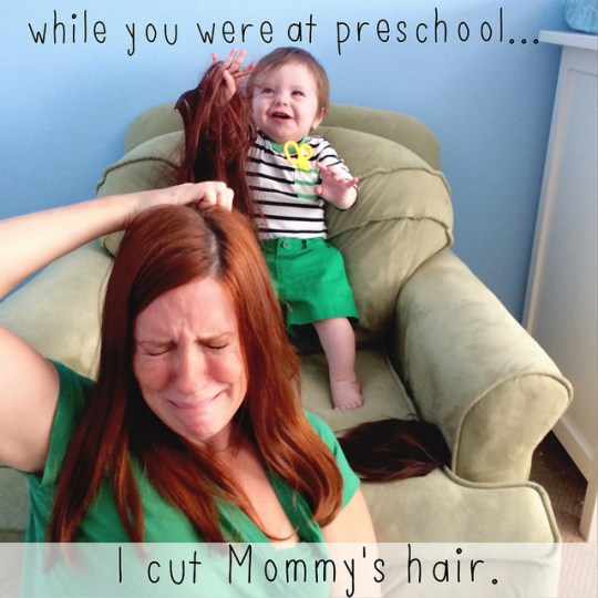 I cut mommy's hair