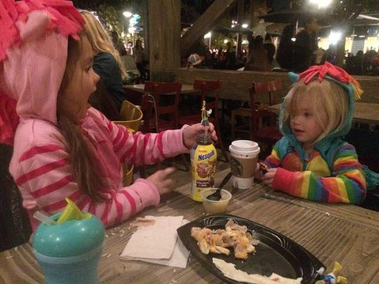 dinner with the ponies