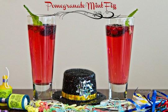 Pomegranate Mint Fizz Drink