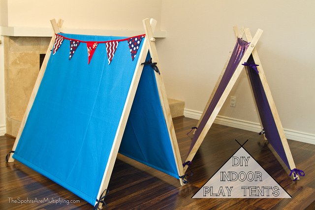 DIY Indoor Play Tent & The Spohrs Are Multiplying DIY Indoor Play Tents