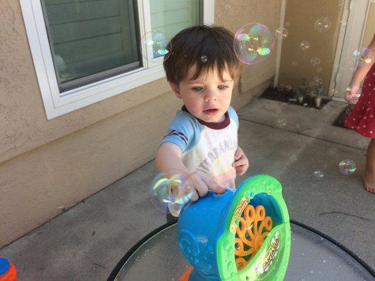 workin' the bubble machine