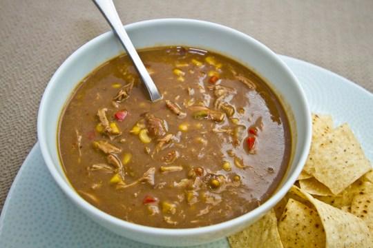 Carnitas, Corn, and Black Bean Soup