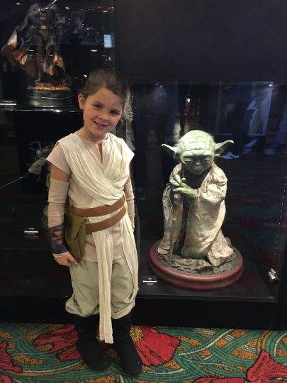 Annie and Yoda