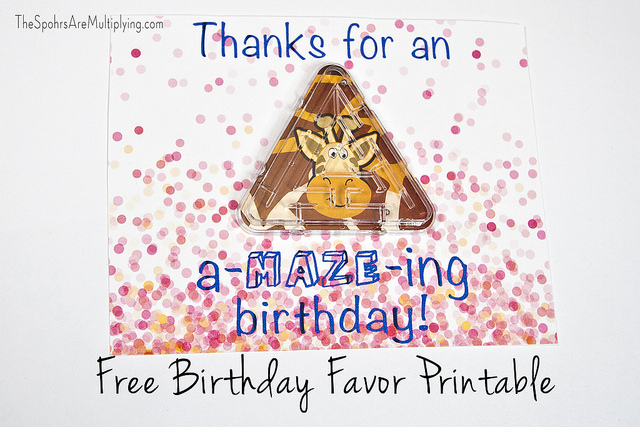 Have An A Maze Ing Birthday Printable