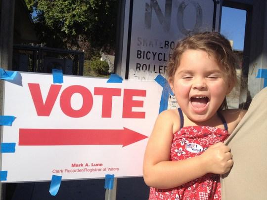 Annie rocks the vote