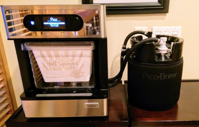 The Pico set up and ready to brew