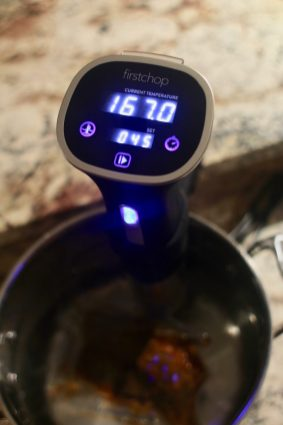 The First Chop sous vide wand in action.