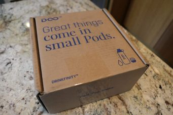Drinkfinity as it arrives by mail
