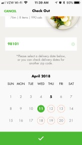Selecting the kit delivery date