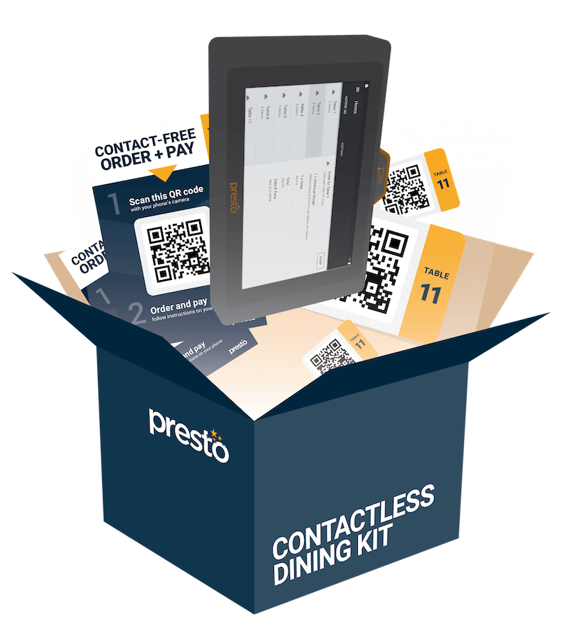 Free Contactless Dining Kit for Reopened Dining Rooms