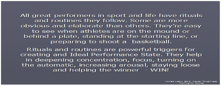 ITU Athlete Routines, Rituals, & Performance Strategies