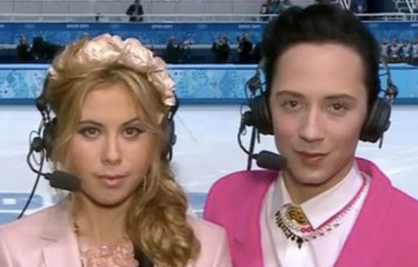 Johnny Weir and Tara Lipinski.