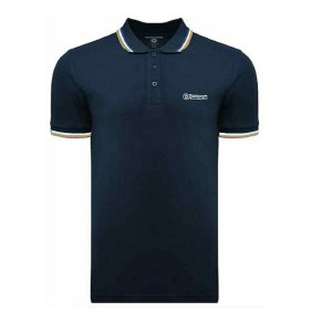 Lambretta triple tipped polo navy/white/blue/biscuit