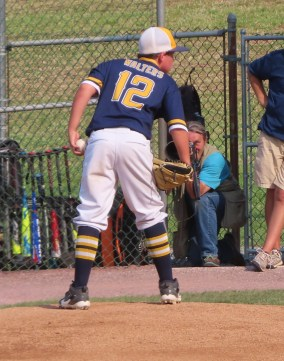 Kaden Walters pitched 2 2/3 innings of scoreless relief in Greencastle's 6-3 semifinal win. (Photo courtesy of Stacey Neville)