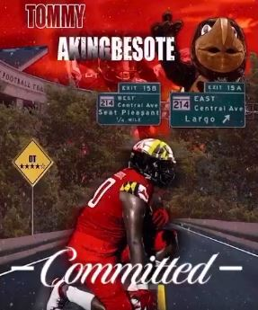 Tommy Akingbesote commits to play football at UMD