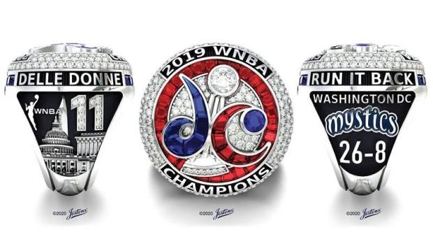 Washington Mystics show off  championship rings