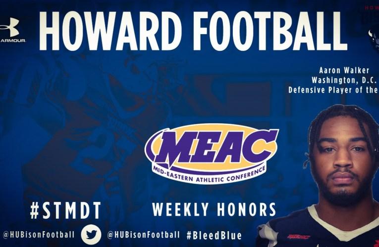 Walker Earns MEAC Defensive Player of the Week
