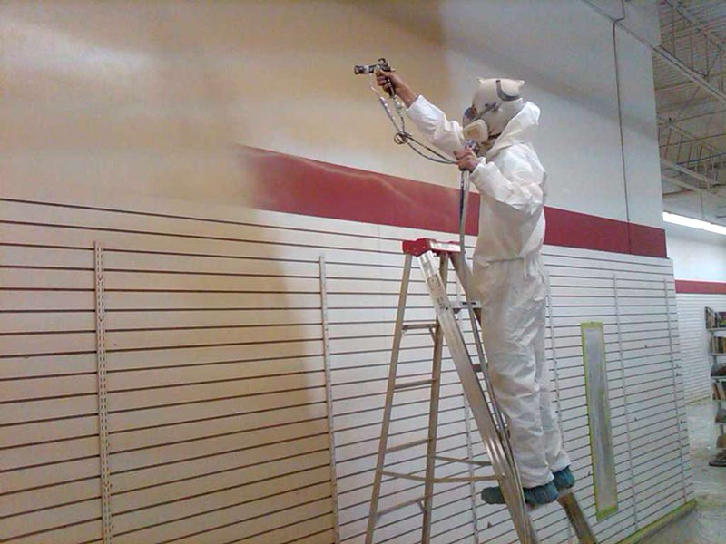 commercial wall spraying nottingham