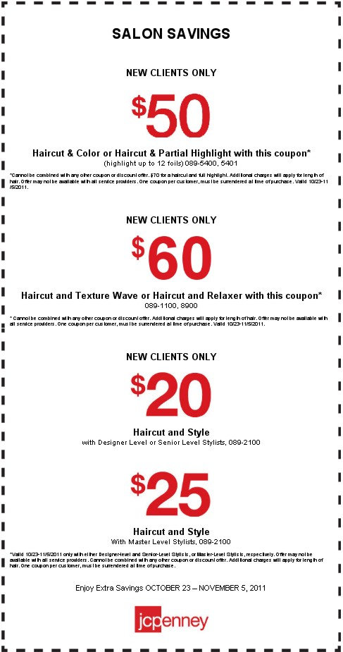 Jcpenney Hair Salon Coupons 2017