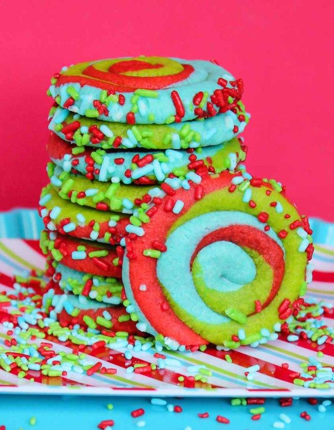 Christmas Pinwheel Cookies.Christmas Pinwheel Cookies Seriously Easy Chrismtas Cookies