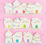 funfetti white + rainbow gingerbread sugar cookie village
