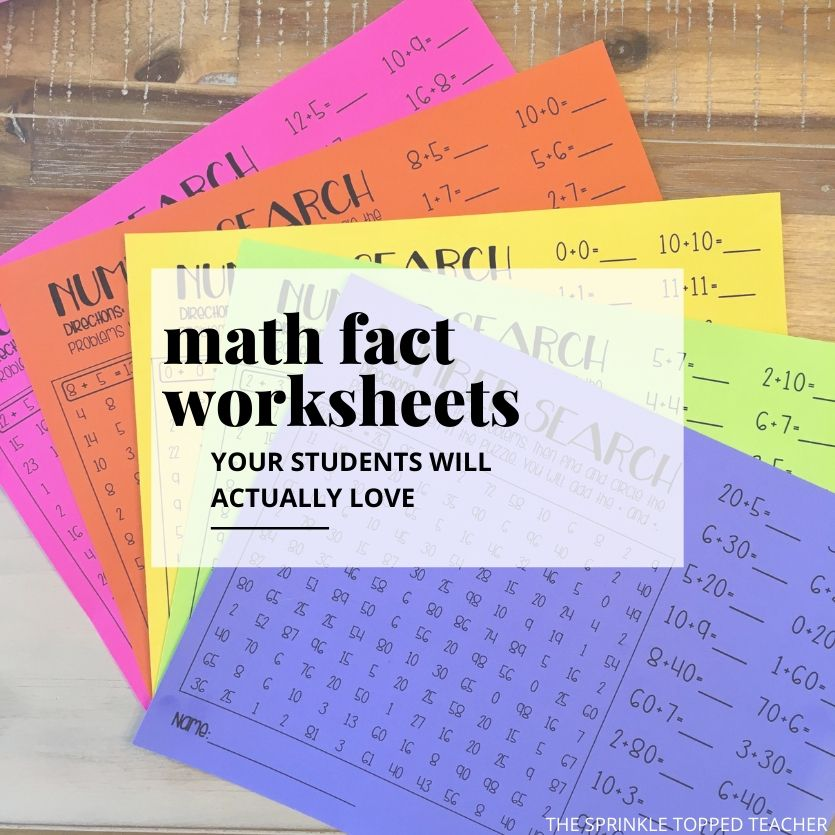 Fun Math Fact Worksheets For 2nd Grade Students