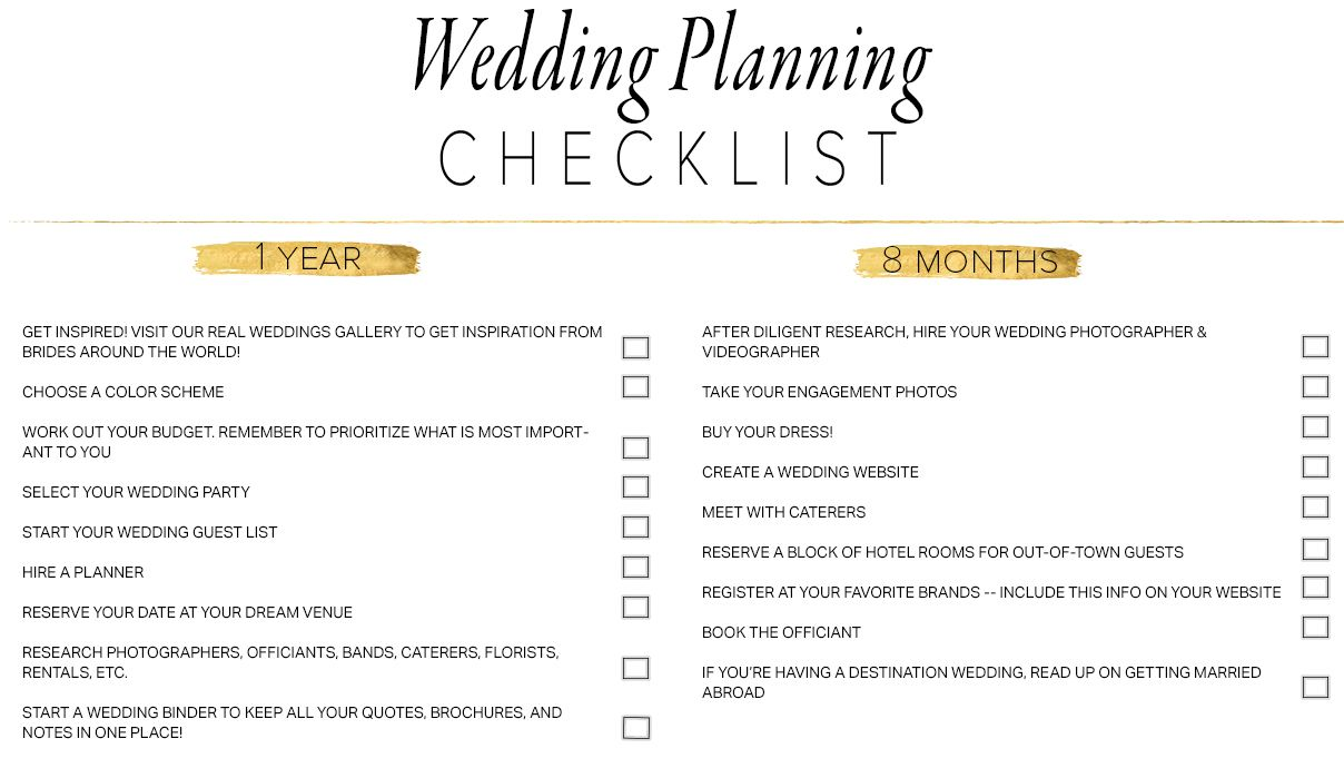 Start Planning Your Wedding