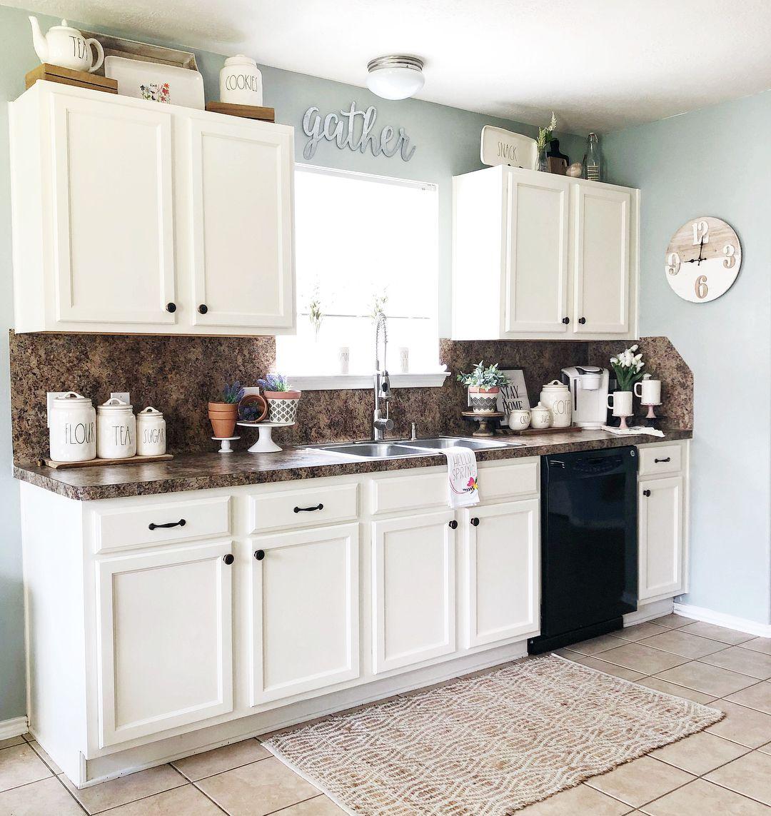 Modern Decorations For Above Kitchen Cabinets Novocom Top