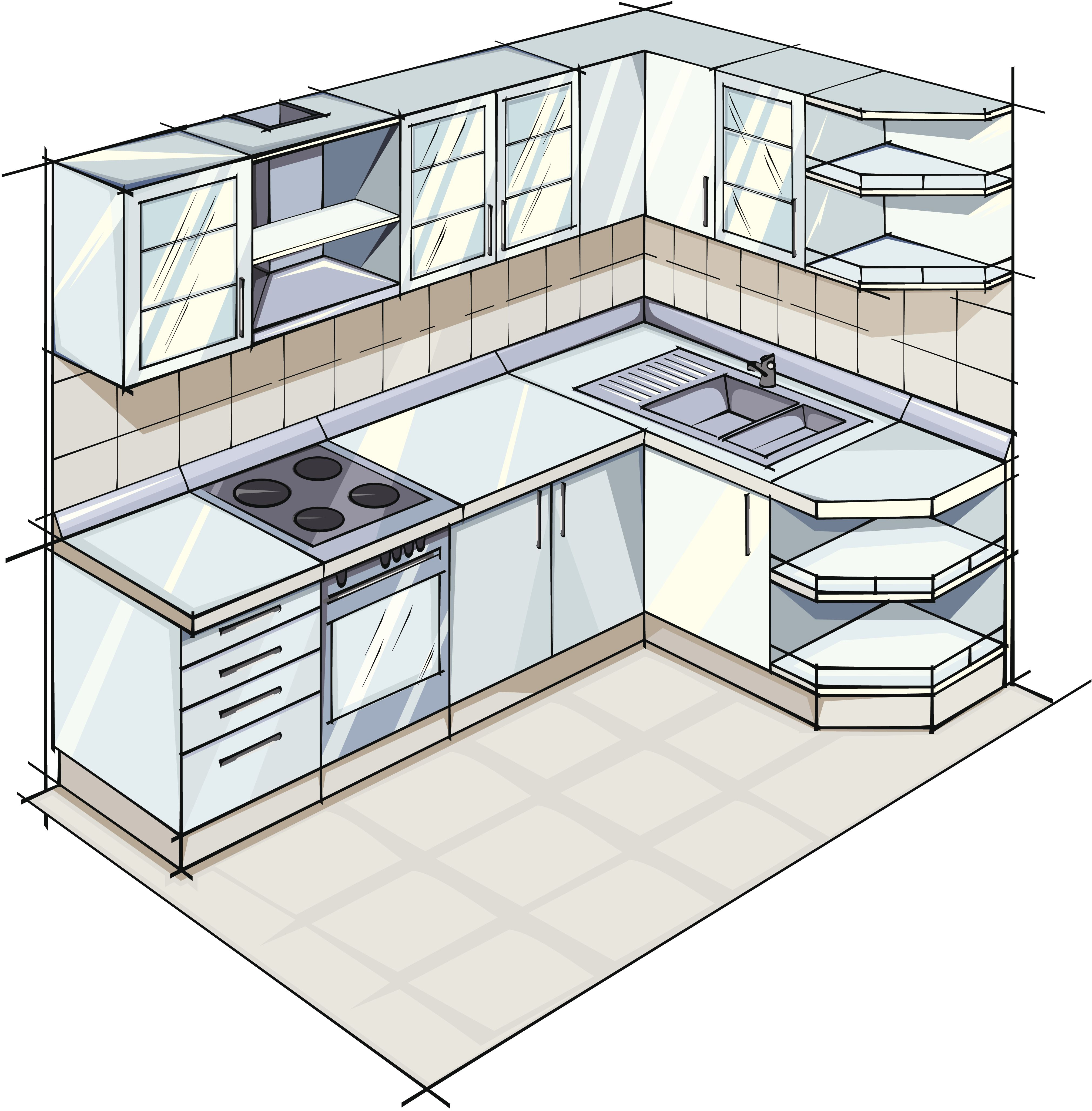 Modern Kitchen Layout Drawing   Novocom.top