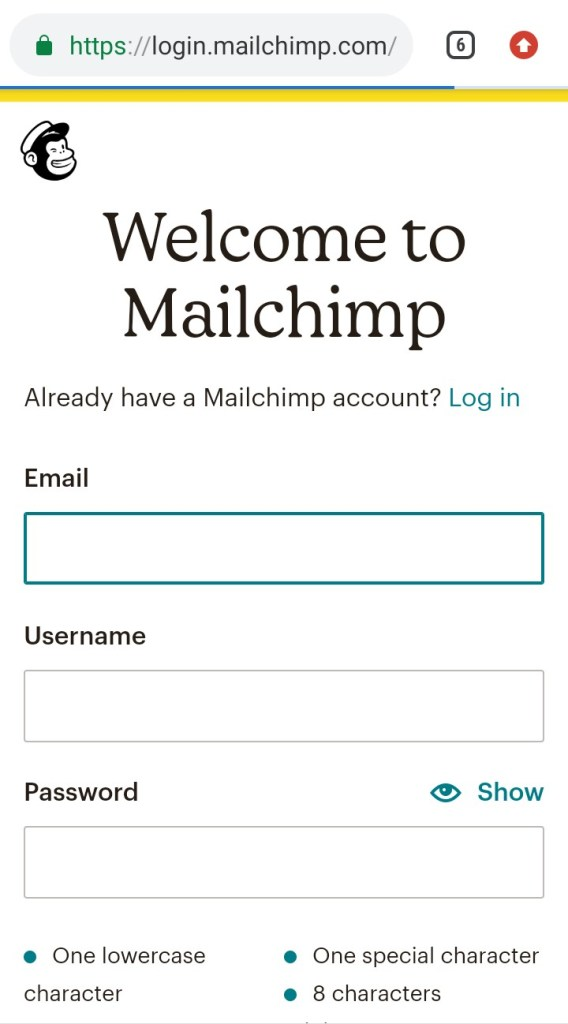 Mailchimp Sign Up - Mailchimp Account Log In - How To Sign Up For A Mailchimp Account