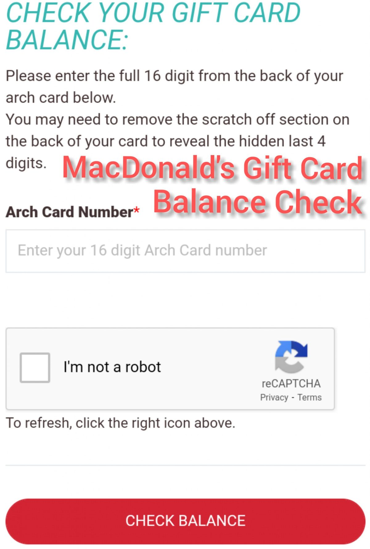 Mcdonalds Gift Card Balance Check - How To Find Mcdonalds Gift Card Balance