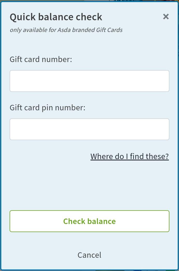 Asda Gift Card Balance Checker - How To Check Asda Gift Card Balance