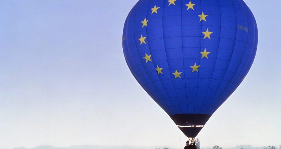 This is a picture with a hot air balloon for the post about working in the European Commission