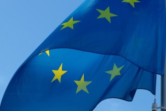 Picture of EU flag in article about exchanging driver's licence in Belgium and Ghent